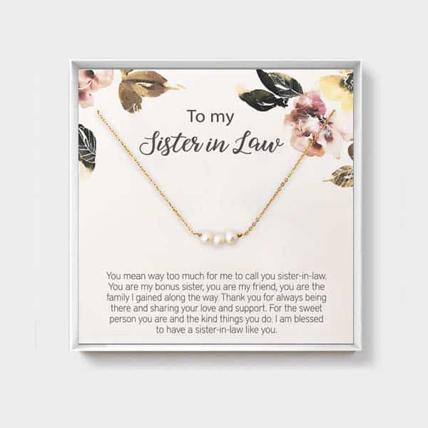 to my sister in law necklace: present for your new bonus sister