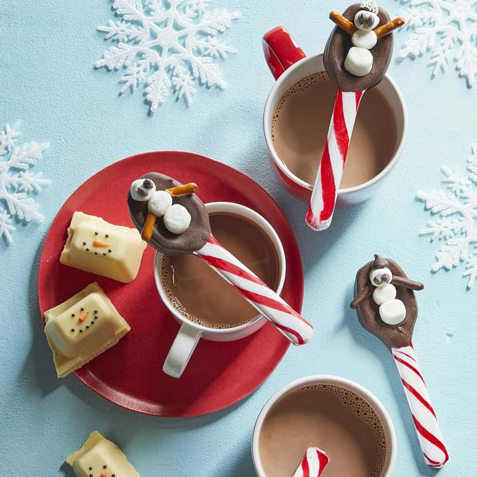 DIY Christmas Gifts - Snowman Candy Cane Spoons