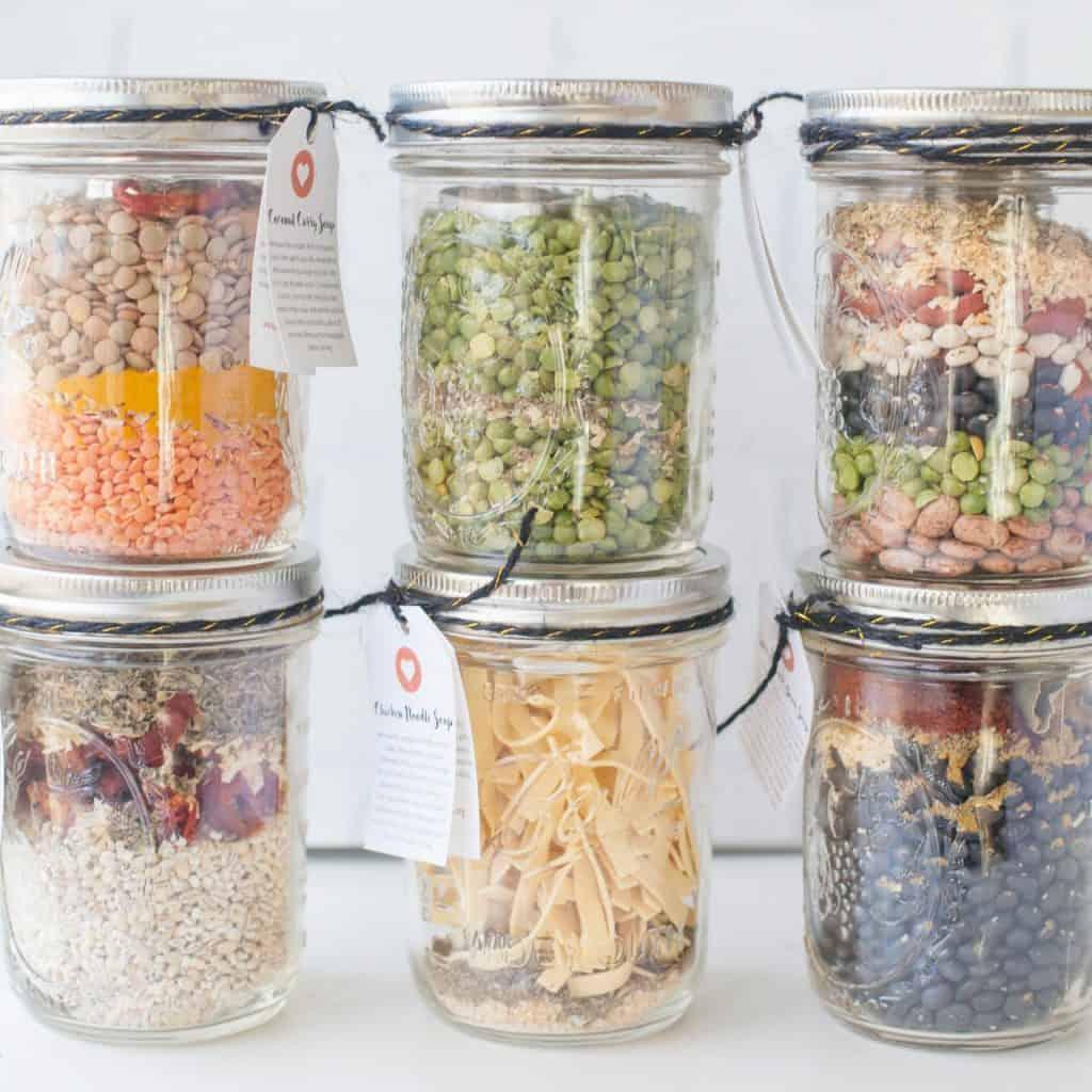 Homemade Soup Mix Jars