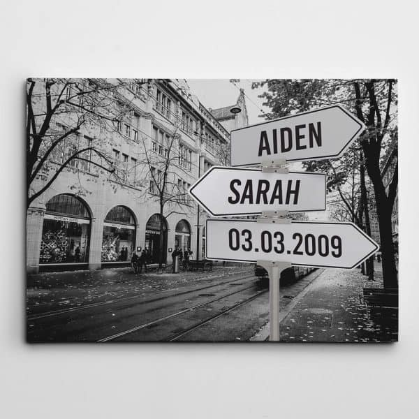 what to buy for your fiance: Custom Street Sign Canvas