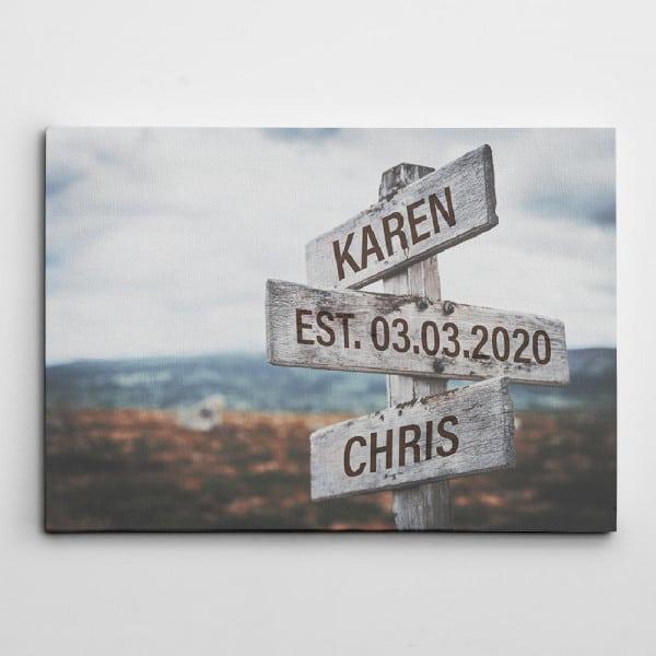 street sign canvas