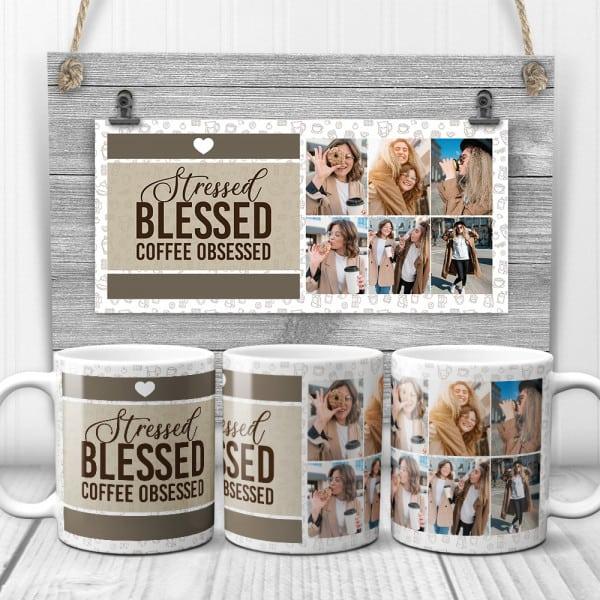 friends photos on custom mug