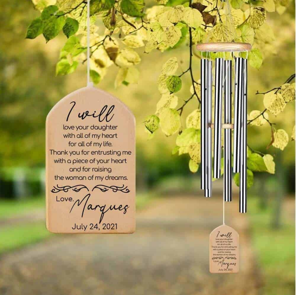 thank you mother in law wind chime gift