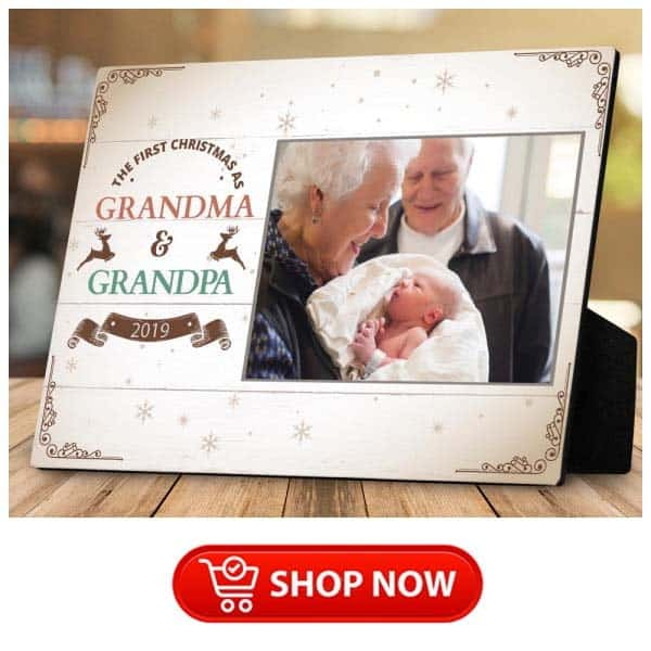 gift ideas for parents who have everything: first christmas as grandparents plaque
