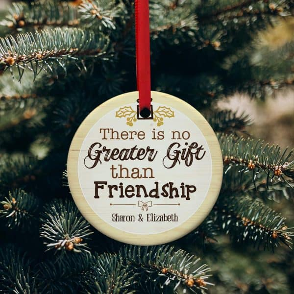 There Is No Greater Gift Than Friendship Personalized Christmas Ornament Inexpensive Gifts For Coworkers