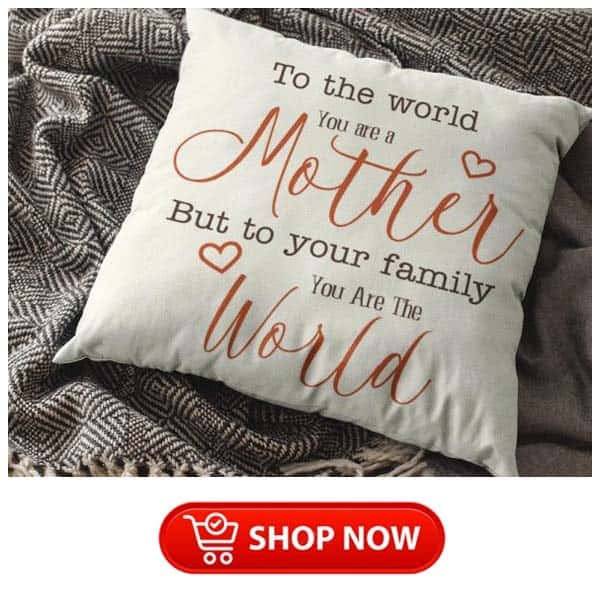 awesome gifts for single moms: You Are The World Pillow