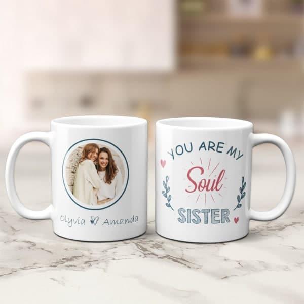 you are my soul sister mug: small gifts for your new bonus sister
