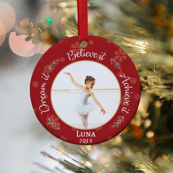 Dream It Believe It Achieve It Personalized Ornament
