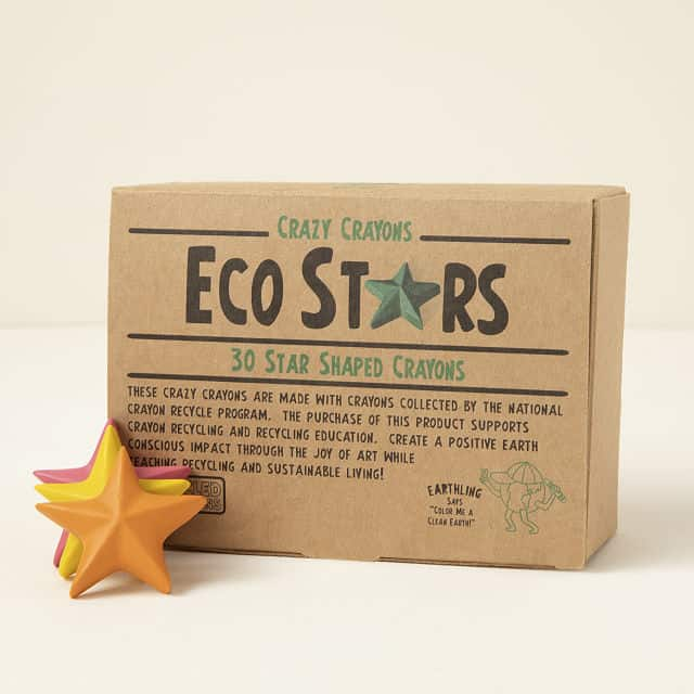 stocking stuffers for girls: eco stars recycled crayons