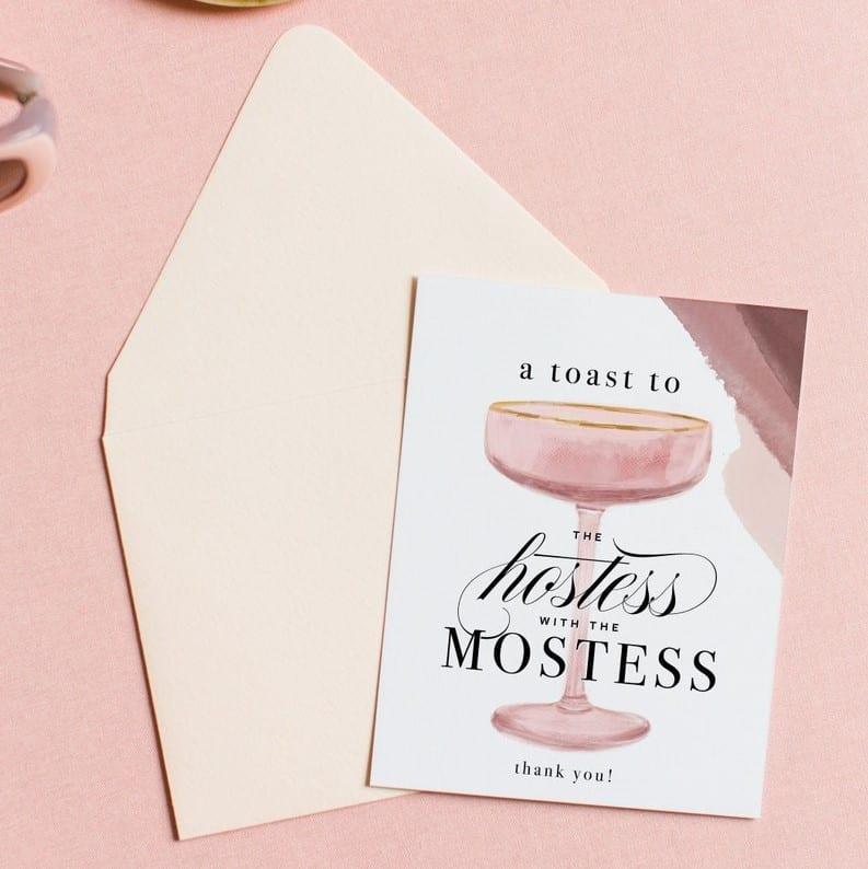 Hostess Thank You Card