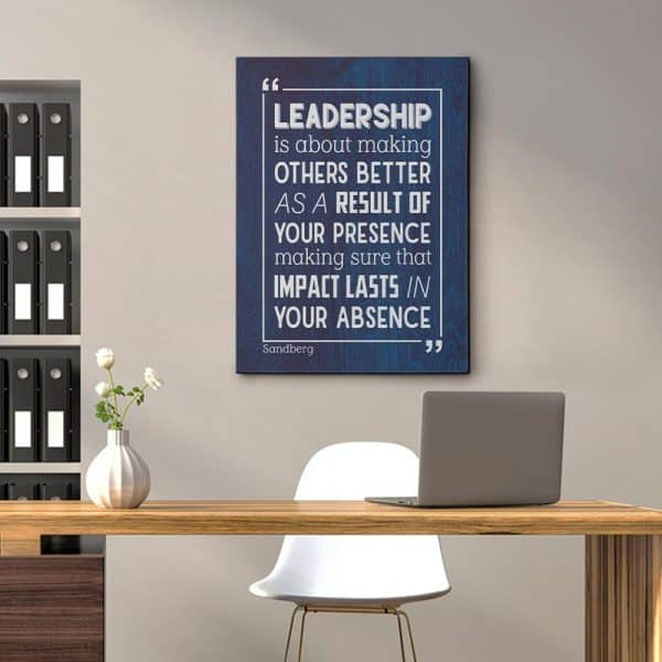 gift for job promotion: Leadership Wall Art
