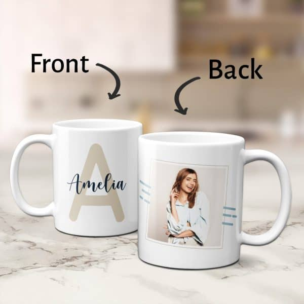 stocking stuffer ideas for girls: Name Mug With Initial