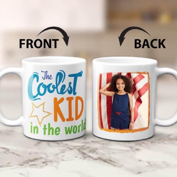 The Coolest Kid in the World Custom Photo Mug