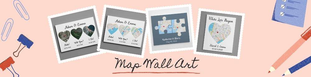 map wall art banner