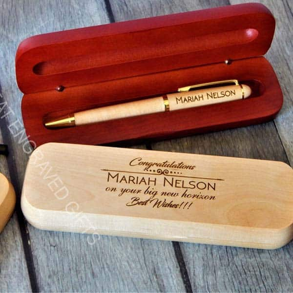 gifts for first job: Personalized Wood Pen