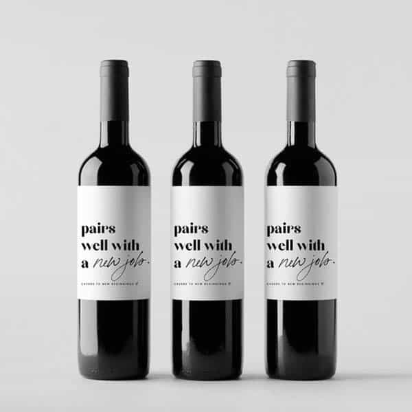 gifts for first job: Wine Label